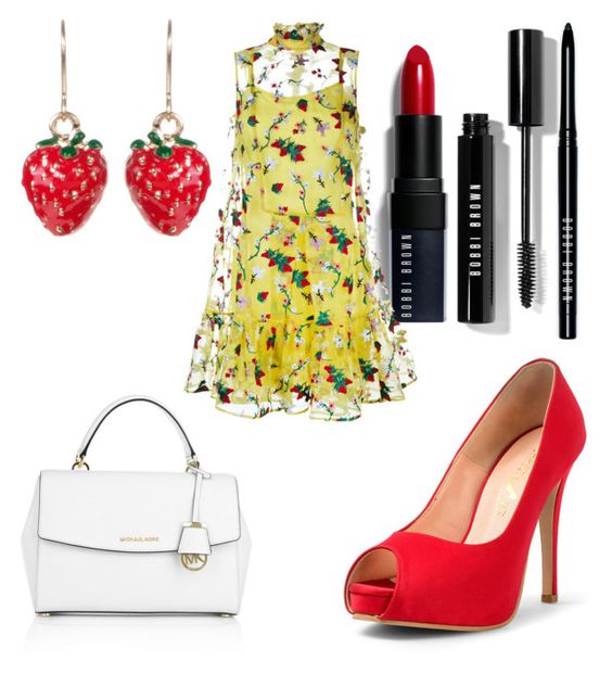 """""""Untitled #159"""" by shamelessreject on Polyvore featuring Bobbi Brown Cosmetics, Lady Fox, Michael Kors and Erdem"""