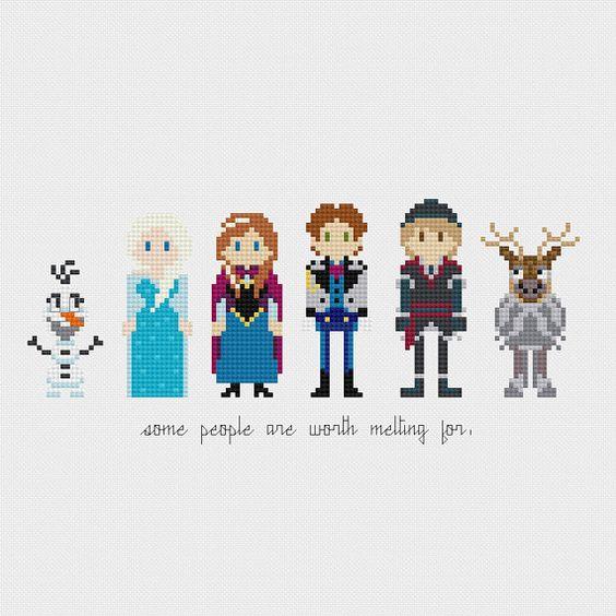 Disney Princess: Frozen Cross Stitch Pattern by pixelsinstitches ~ pattern download only not a kit ~ CROSS STITCH