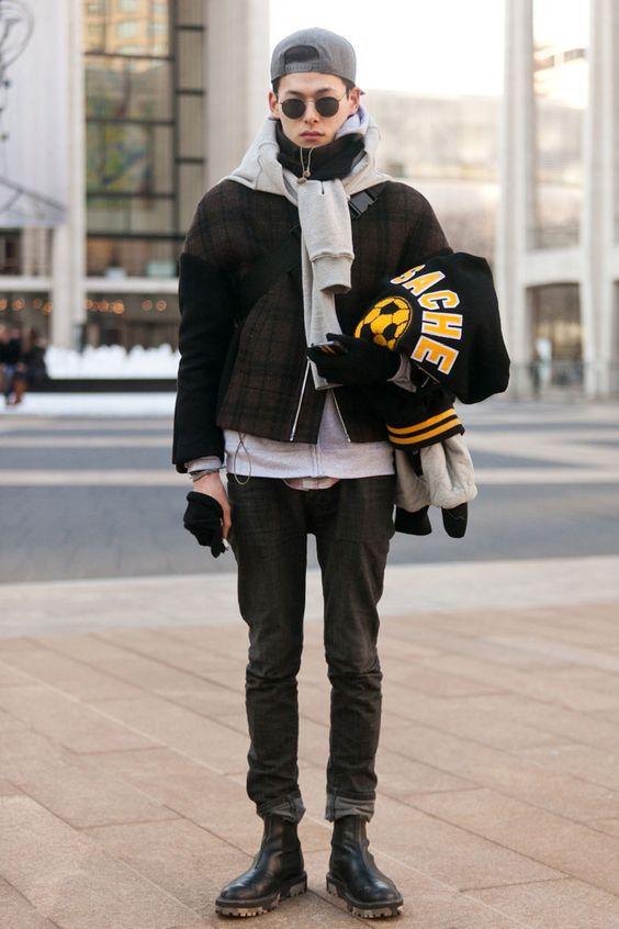 boots bomber jacket hoodie black jeans denim streetstyle fashion