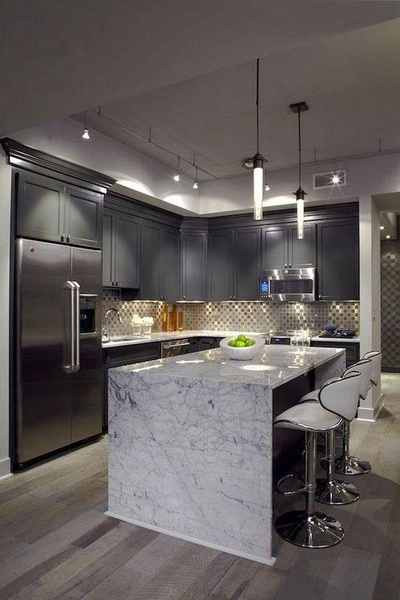 20 Fresh Kitchen Design Inspirations From Pinterest Best Online Cabinets In 2020 Modern Kitchen Island Modern Kitchen Design Modern Kitchen