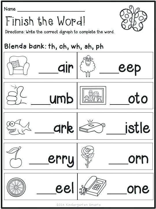7 English Worksheets For Grade 1 - #Worksheet Template Phonics Worksheets,  Phonics Worksheets Free, Kindergarten Reading Worksheets