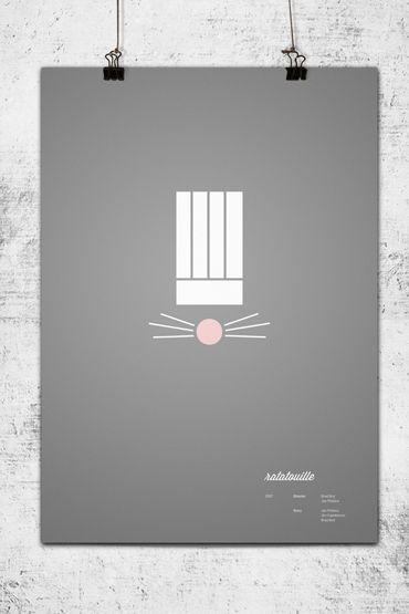 Les affiches Pixar revisitées par un designer minimaliste