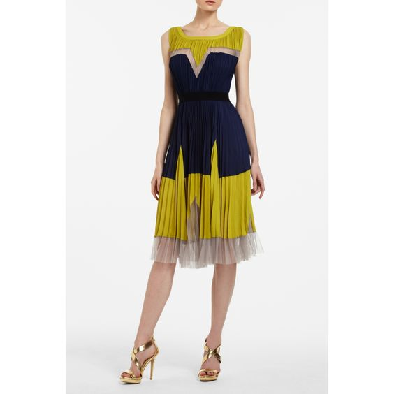 Bcbg yellow and day dress
