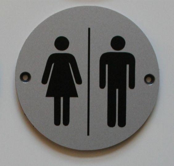 Bathroom Signs Ebay unisex round silver toilets pub shop business bathroom door plate