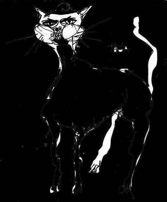 Gata noche - http://redarte.com.ar/2013/07/gata-noche/ #RedArte #Art #Arte
