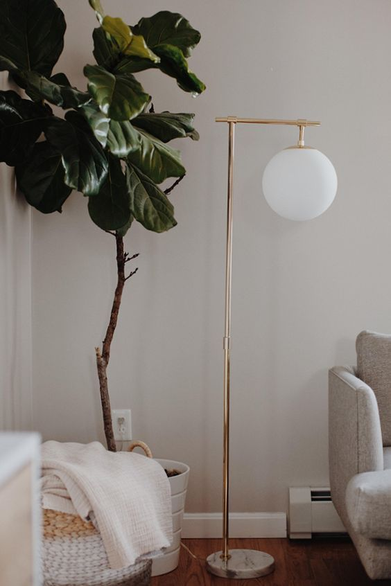 Adding Different Heights To Direct The Eye This Whill Be Placed Beside A Chair Nice For Reading In 2020 Gold Floor Lamp Floor Lamp Bedroom Lamps Living Room #nice #lamps #for #living #room