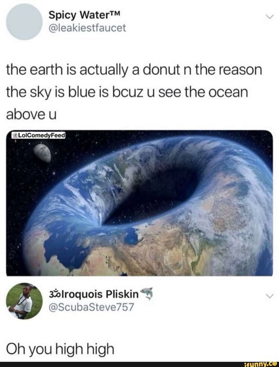 there will be a donut earth society just like the current flat earth society