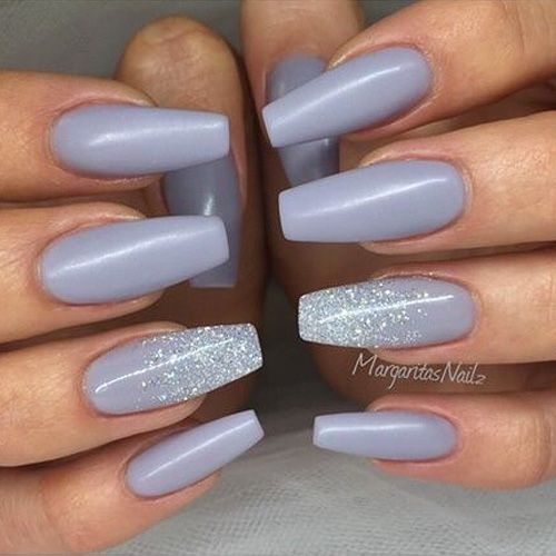 Mismatched Blue Grey And Silver Nails Mismatched Nail Designs Winter Nails Wi Blue Designs Grey Mismatche In 2020 Neutral Nails Silver Nails Bridesmaids Nails