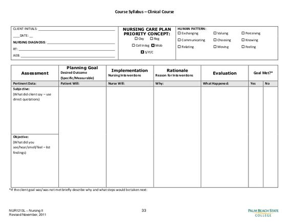 Blank nursing care plan templates google search for Wound care plan template
