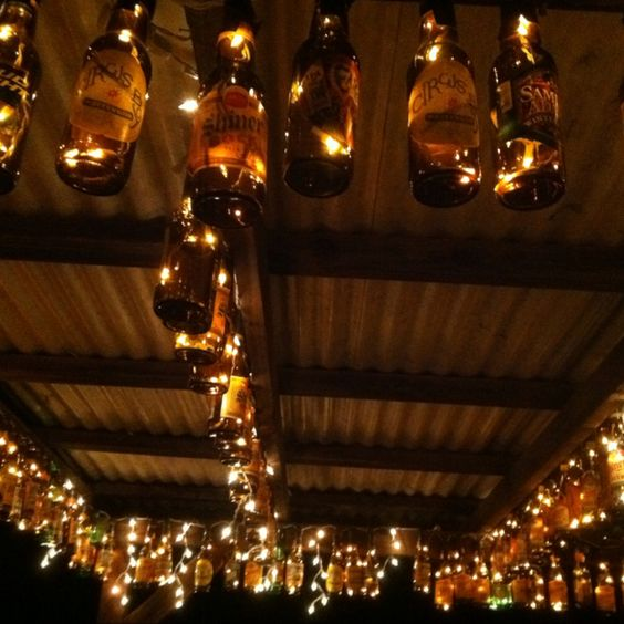 Beer bottle lights!