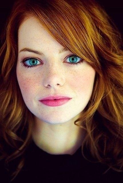 Emma Stone - beautiful skin and piercing blue eyes