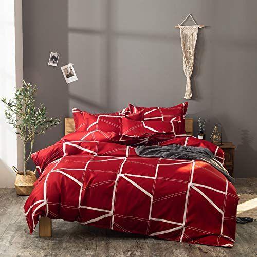 Erosebridal Full Size Geometric Comforter Cover For Girls Woman Grid Bedding Square Grid Duvet Cover Dec Simple Bedding Sets Geometric Bedding Duvet Cover Sets