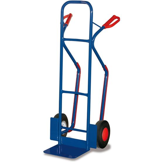 GTARDO.DE:  Stahlrohrkarre, Tragkraft 250 kg, Maße 558 x 543 x 1305 mm, Schaufel 320 x 250 mm, Rad 250 x 60 mm, Höhe 1305 mm 99,00 €