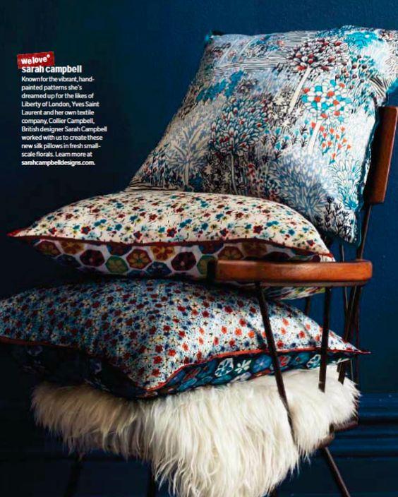 Sarah Campbell pillows for West Elm