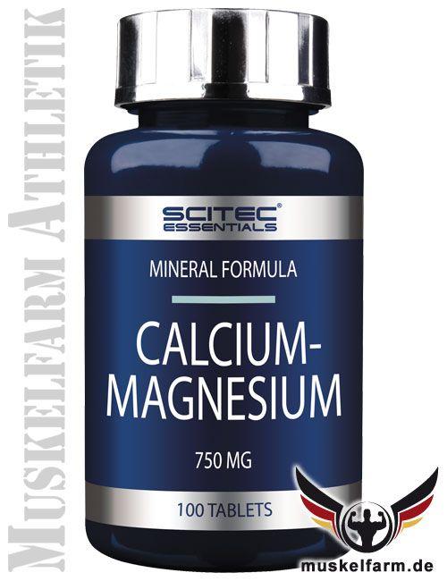 Scitec Nutrition Calcium Magnesium mit den wichtigen Mineralien im 2:1 Verhältnis, für Muskelfunktion, Energiestoffwechsel und körperliche Funktion.