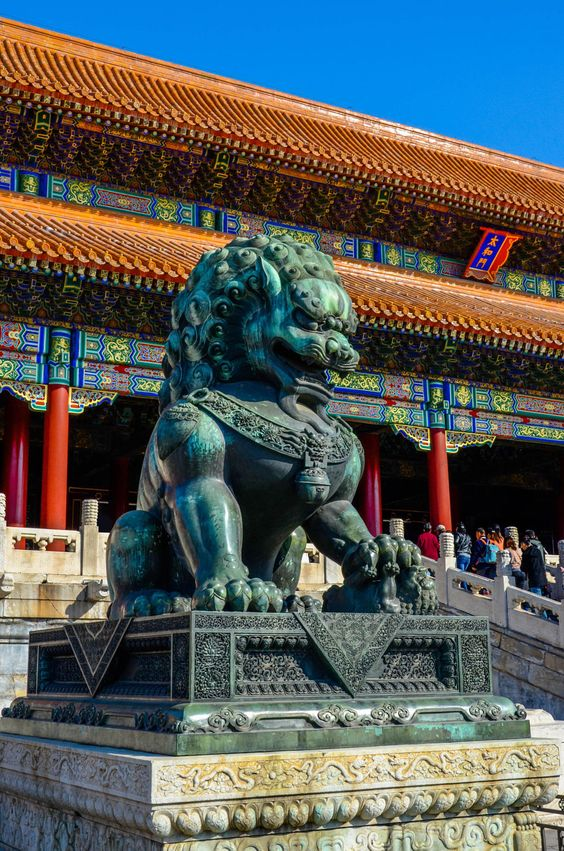 Giant Jade Lion ~ Forbidden City ~ Beijing, China
