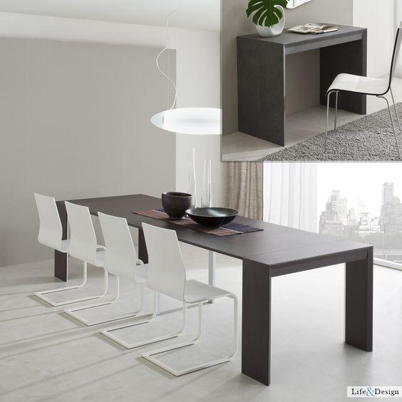 jack: tavolo consolle allungabile moderno zona living.   ld ... - Idee Arredamento Zona Living