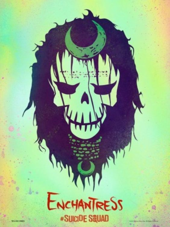 Suicide squad enchantress skulls and poster on pinterest