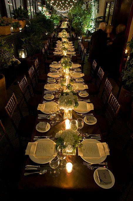 love long tables for wedding dinner