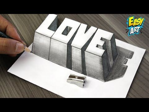 Como Dibujar Amor 3d How To Draw Love 3d Dibujos De Faciles