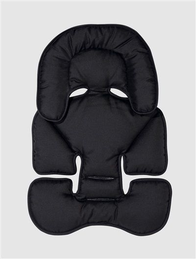 Almofada redutora VERTBAUDET para carrinho de bebé PRETO ESCURO LISO