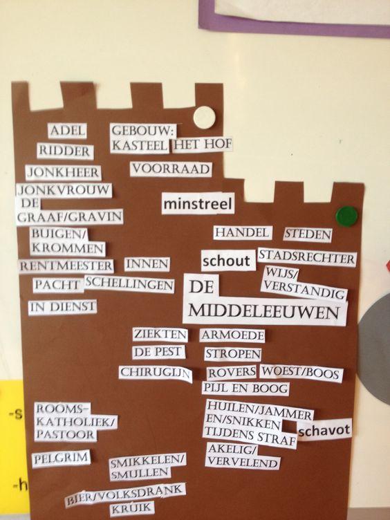 Middeleeuwen woordenschat