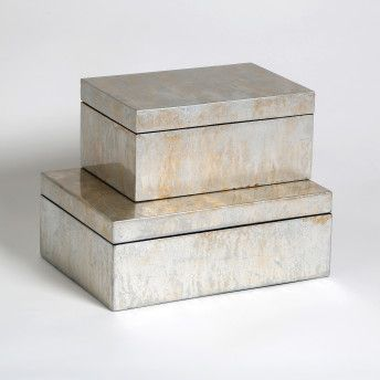 silver leaf boxes