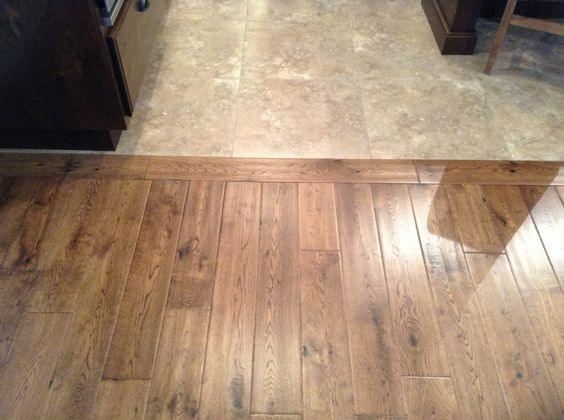 Choosing a kitchen floor transition from tile to wood for Wood floor next to tile