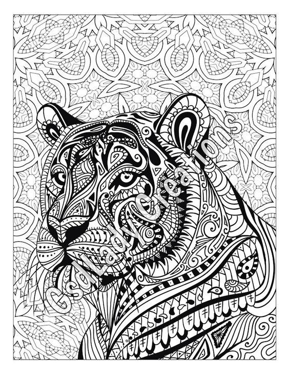 zen tiger animal art page to color zentangle animal zentangle drawing animal coloring. Black Bedroom Furniture Sets. Home Design Ideas