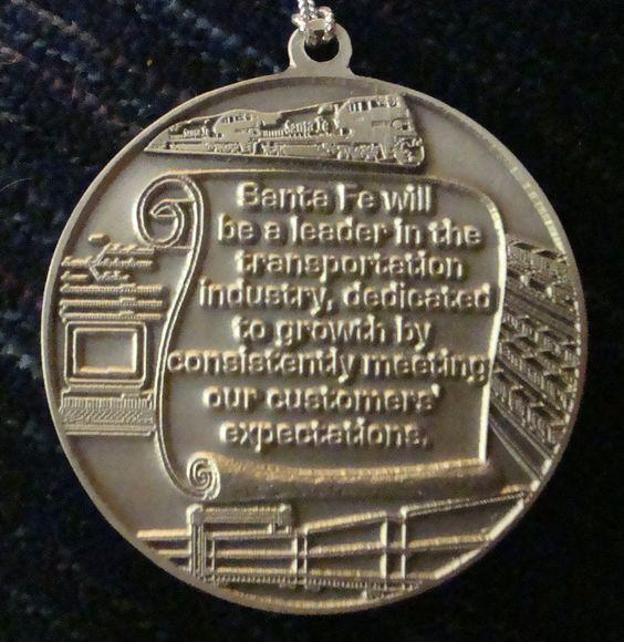 ATSF Commemorative 1868-1995 reverse side.