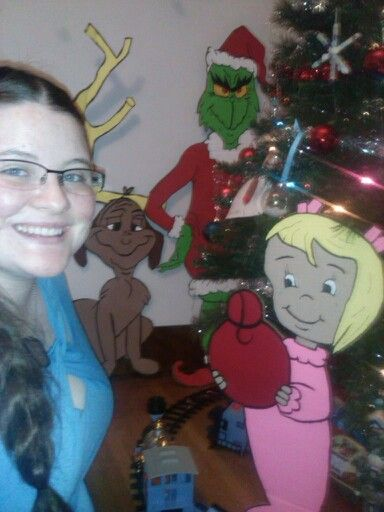 The Grinch Max And Cindy Lou Who Cardboard Cut Out And