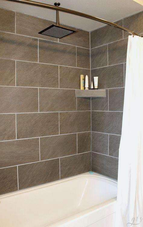 10 Awesome Farmhouse Bathroom Tile Shower Ideas Walk In Shower