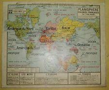 Ancienne carte affiche scolaire vidal lablache france villes n 5 ecole p - Vieille carte scolaire ...
