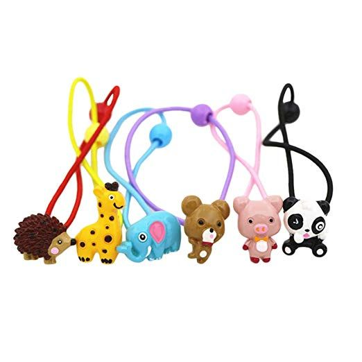 Sweet Cartoon Holder Animal Elastic Hair Band Rope Ponytail Holder For Kids Girl
