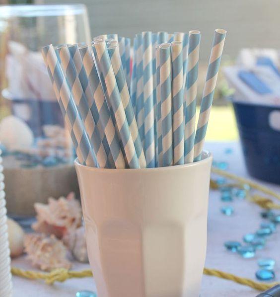 Lynn + Lou: Nautical Baby Shower, great idea for dessert table.