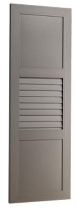 VOLET G4: Le volet isolant G4 est particulièrement adapté aux grandes fenêtres des maisons de maître. Il est composé d'un cadre alu 77/33 coupé à 45° à rupture de pont thermique. Les deux traverses sont à rupture de pont thermique et les panneaux pleins isolés sont en 3 parties : 2 tôles d'aluminium et un isolant. Les persiennes jointives 110 x 20 mm sont également à rupture de pont thermique. L'assemblage est réalisé après le thermolaquage, sans aucun système de montage apparent.