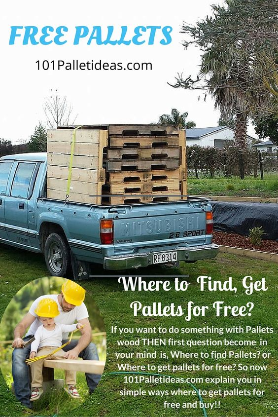 Where to Get Pallets for Free?   101 Pallet Ideas ,,,,, If you want to do something with #Pallets wood THEN first question become  in  your mind  is, Where to find Pallets? or Where to get pallets for free? So now 101Palletideas explain you in simple ways where to get pallets for free and buy!!