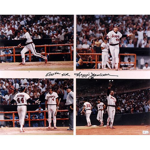 "Mounted Memories Los Angeles Angels of Anaheim Reggie Jackson Autographed 16x20 Photo w/ ""500th Homerun"" Inscription"