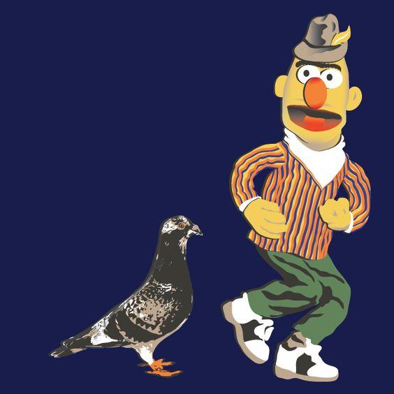 Bert - 'Doing the Pigeon'   Funny   Pinterest   The pigeon ...