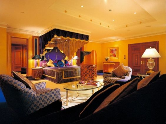 Déco de chambre à coucher de luxe