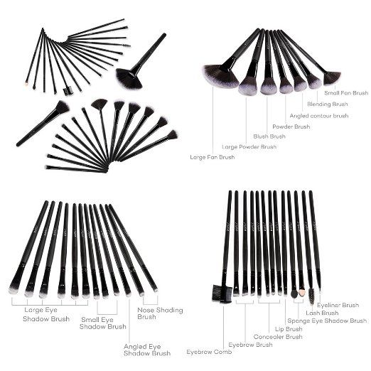 32 pcs makeup brush set uses