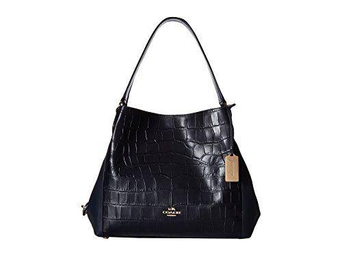29c6e3e123 ... COACH Womens Embossed Croc Edie 31 Shoulder LINavy Shoulder Bag --  Details can ...
