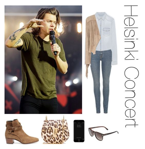 """""""Helsinki Concert"""" by thetrendpear-eleanor ❤ liked on Polyvore featuring Yves Saint Laurent, Zara, Glamorous, Chloé and Tom Ford"""