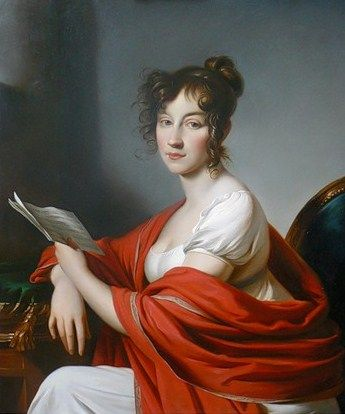 Portrait of an unknown woman by Alexander Molinari (1800)