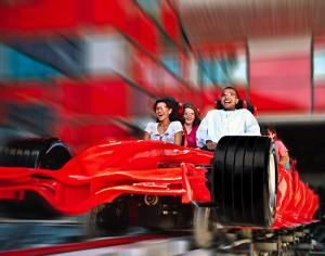 Formula Rossa is the fastest roller coaster anywhere. - Ferrari World. Used with permission.