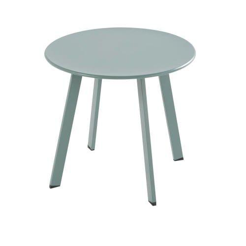 Table Basse De Jardin Ronde En Metal Vert Garden Coffee Table