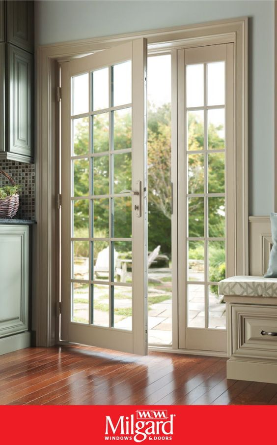 French Doors With Grids For A Traditional Look In This Summer House Open The Doors And Enjoy The Breeze French Doors Patio Outdoor French Doors French Doors