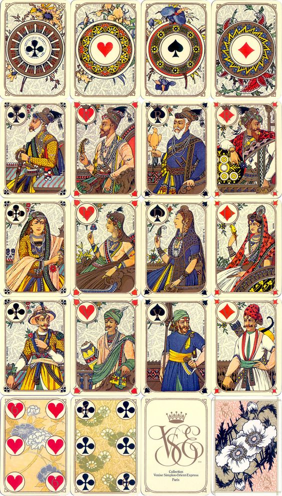 Venice Simplon-Orient-Express Playing Cards produced by B.P. Grimaud, Paris:
