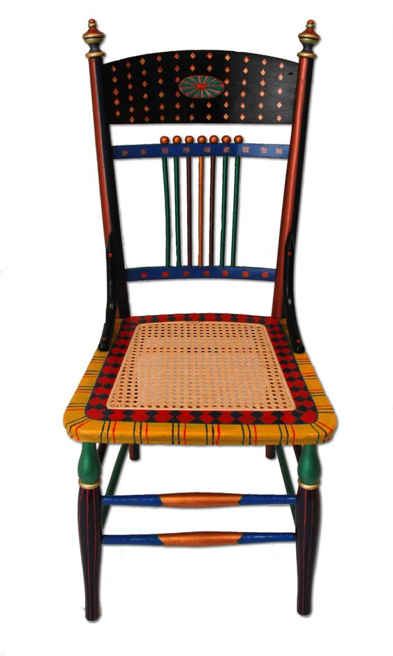 hand painted chairs | Custom Hand-Painted Furniture with a Bright, Happy, Whimsical Style: