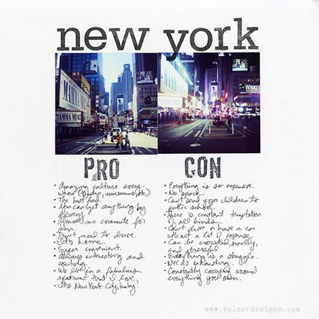 What a great Travel Page idea, EVERYWHERE has it's pros and cons!